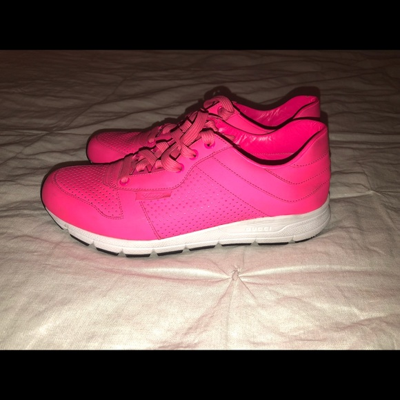 hot pink gucci shoes